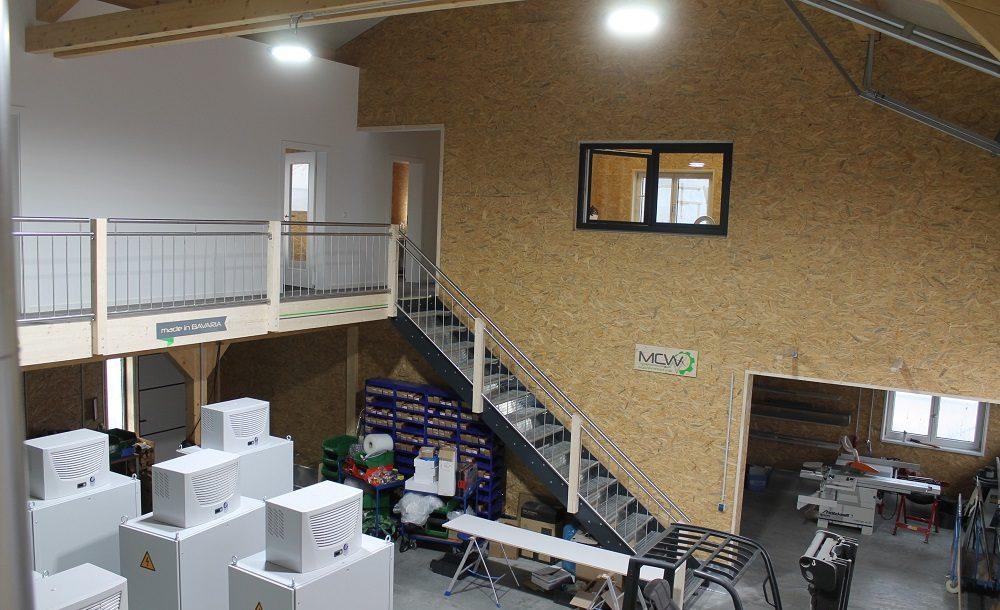 Werkhalle Innenansicht oben