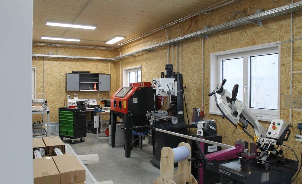 Werkhalle mechanische Bearbeitung